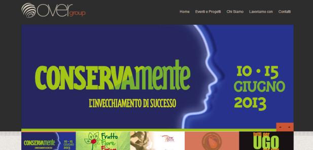 OverGroup Sezione Eventi - Realizzazione sito web